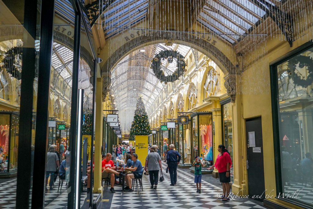 Royal Arcade is one of the many beautiful arcades in Melbourne, Australia