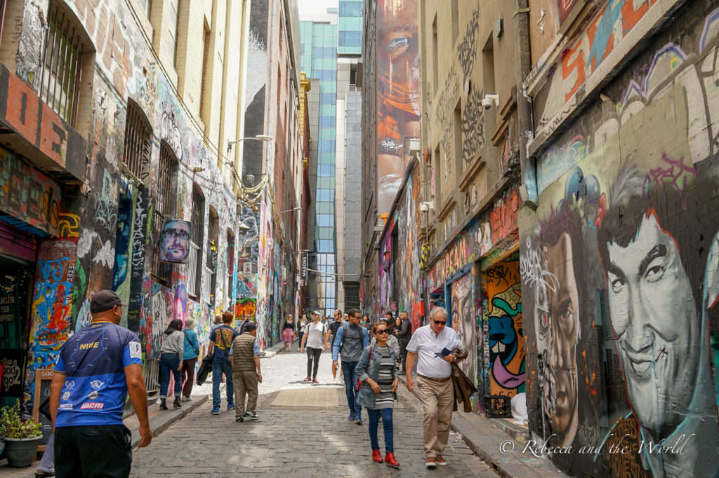 Checking out street art in Melbourne is a popular thing to do and a must-do on your 3 days in Melbourne