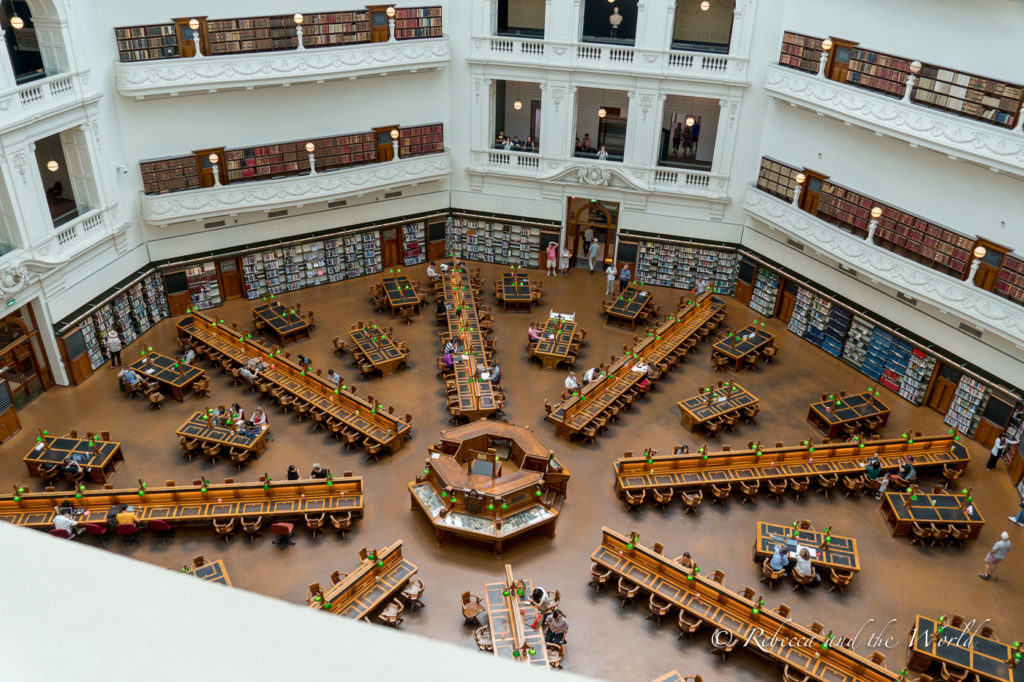 The State Library is one of the most grand buildings in Melbourne - take a free tour during your Melbourne trip