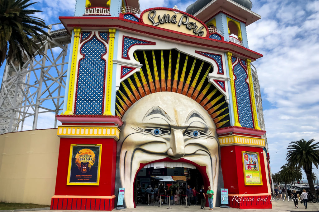 Luna Park in St Kilda is one of the most fun things to do in Melbourne with kids - and big kids!