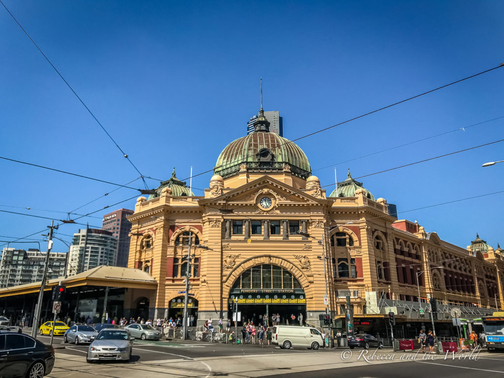 Flinders Street Station is an iconic Melbourne building and one you should take a look at during your Melbourne itinerary