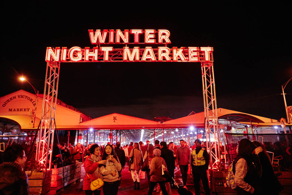 Even though it's cold, there are still plenty of things to do in Melbourne in winter, including night markets and festivals