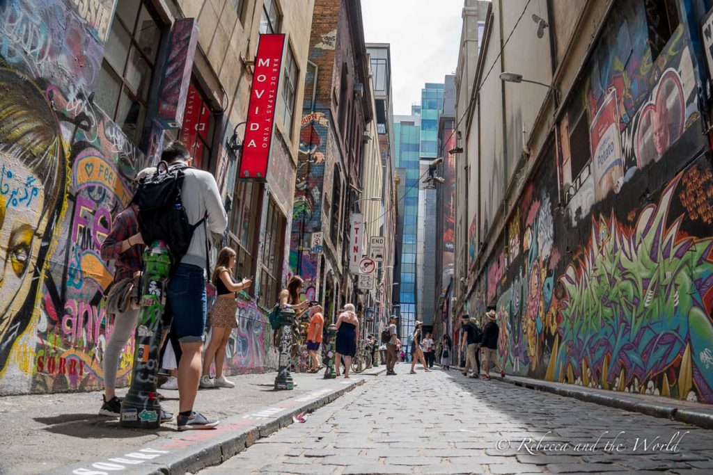 One of the coolest Melbourne tours is a street art tour which showcases the city's street art culture
