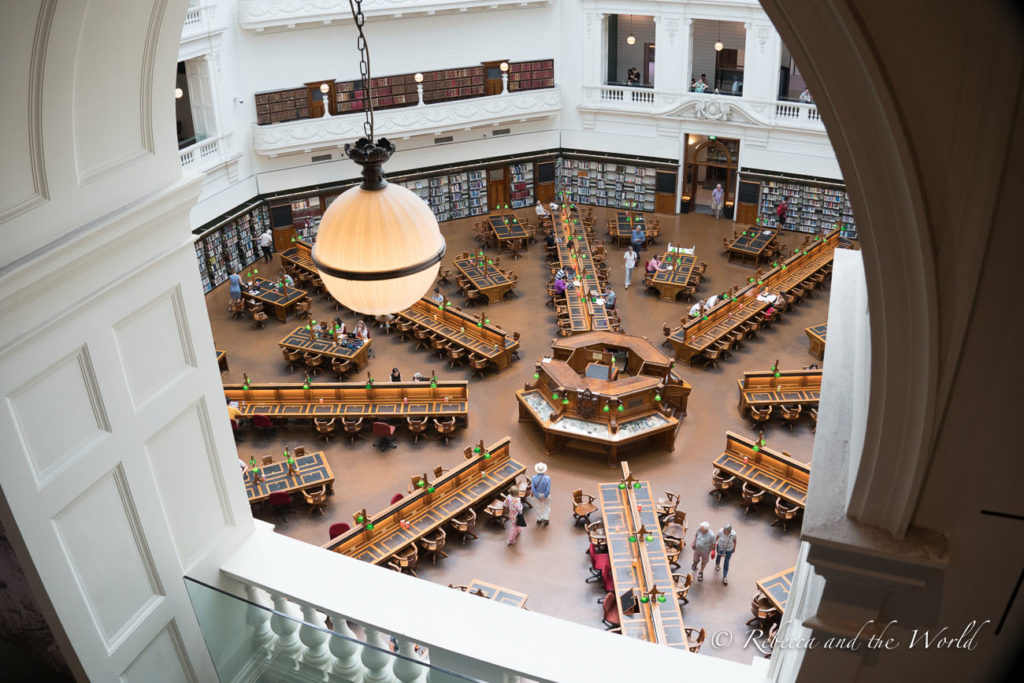 The State Library is one of the most beautiful buildings in Victoria, and you can take a free tour to learn about it