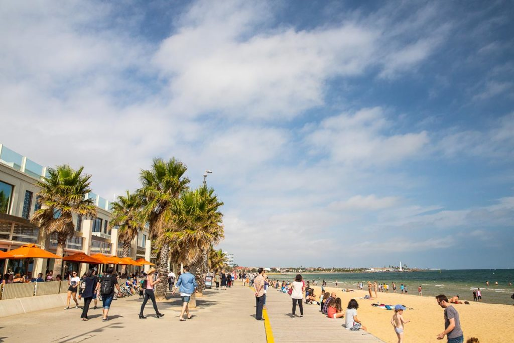 St Kilda Beach is only 6 kilometres from the Melbourne city centre, and one of the best attractions in St Kilda