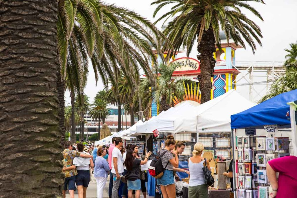 The St Kilda Esplanade Market is held every Sunday and is a great market to visit in Melbourne, Australia