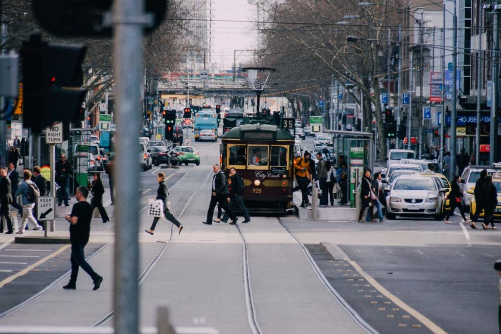 The City Circle tram in Melbourne is free, and provides visitors with an overview of the main Melbourne attractions