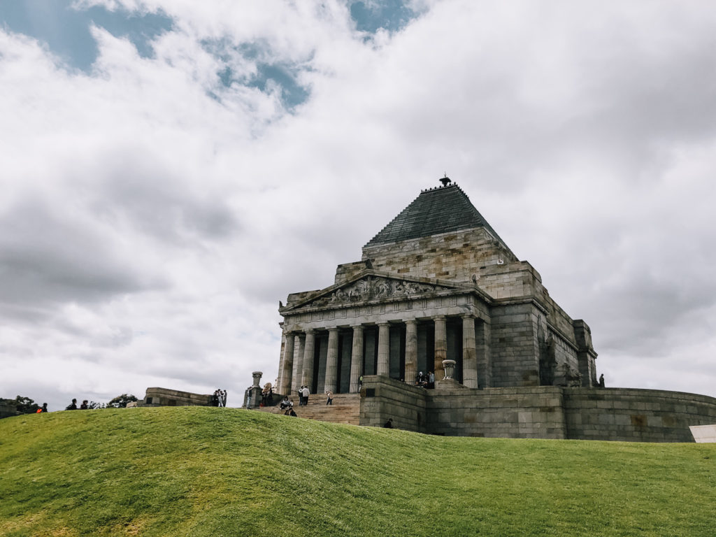 There's no charge to visit the Shrine of Remembrance in Melbourne