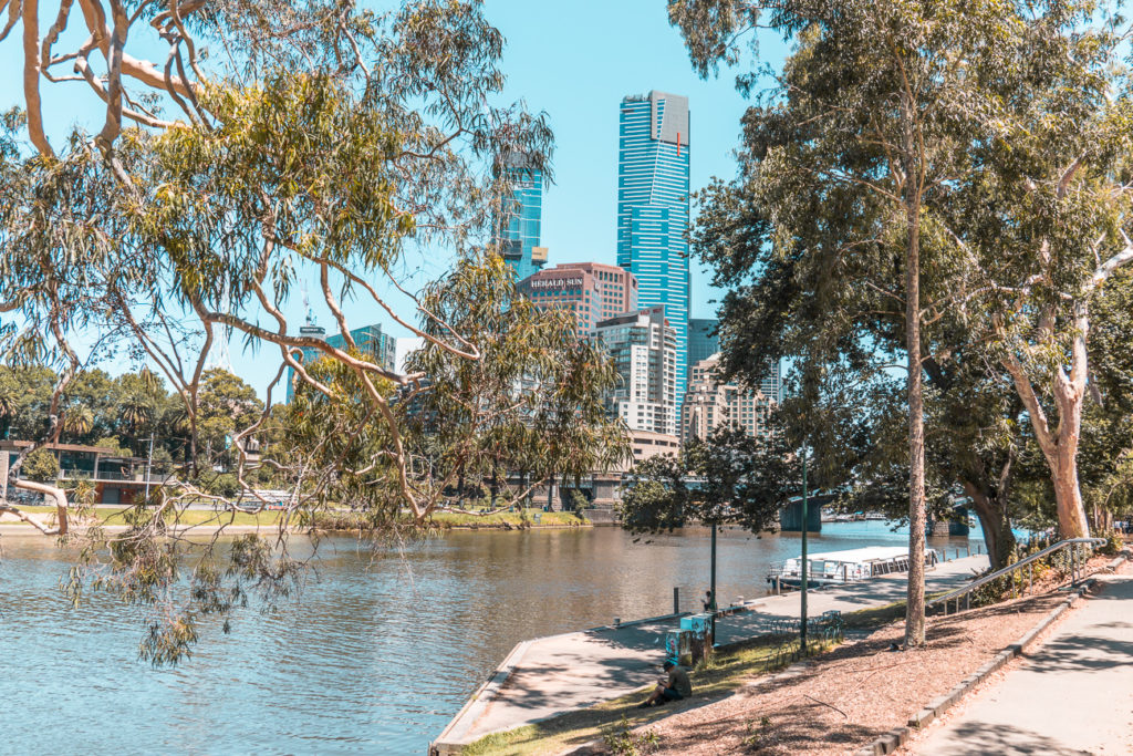 One of the free things to do in Melbourne also gets you outside in nature - strolling along the Yarra River