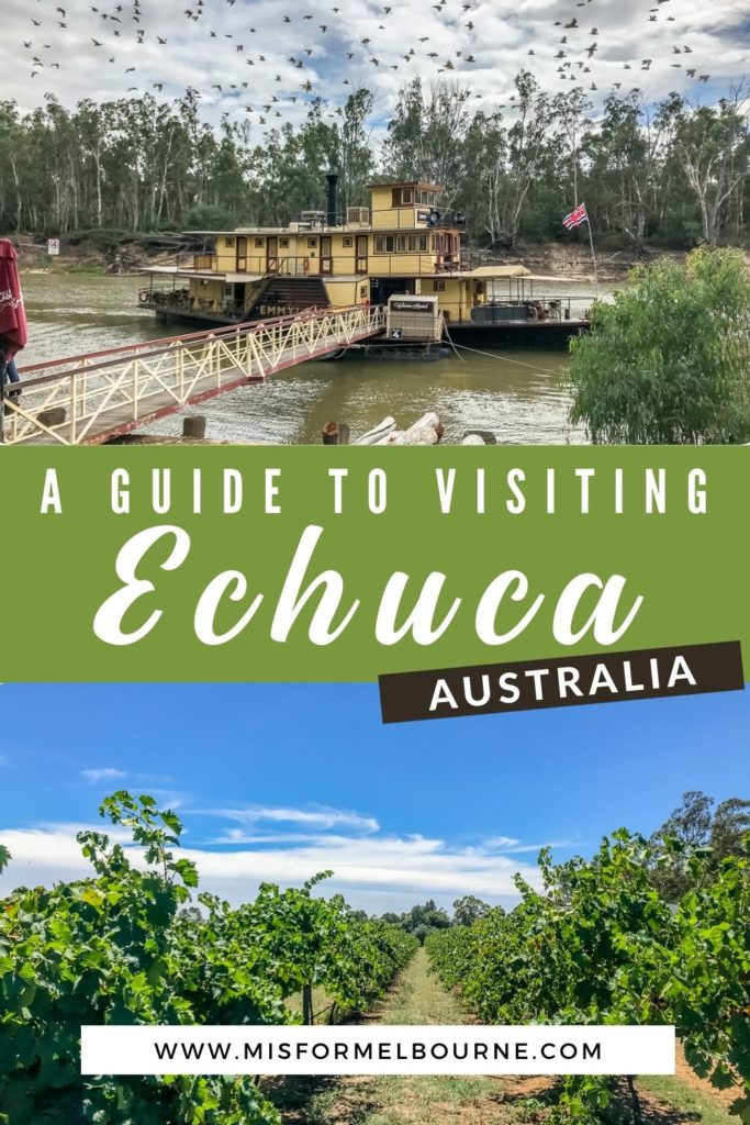 For a small town, there are lots of things to do in Echuca, Victoria. Just a short trip from Melbourne, a weekend in Echuca is a great way to experience rural Australian life. From water sports on the Murray River to a quirky beer museum, here's what to do in Echuca. | Echuca | Things To Do in Echuca | Places to Visit in Victoria Australia | Things To Do in Victoria Australia | Murray River | Echuca Travel | Victoria Australia | Australia | Weekend Trip | Australia Travel | Visit Australia