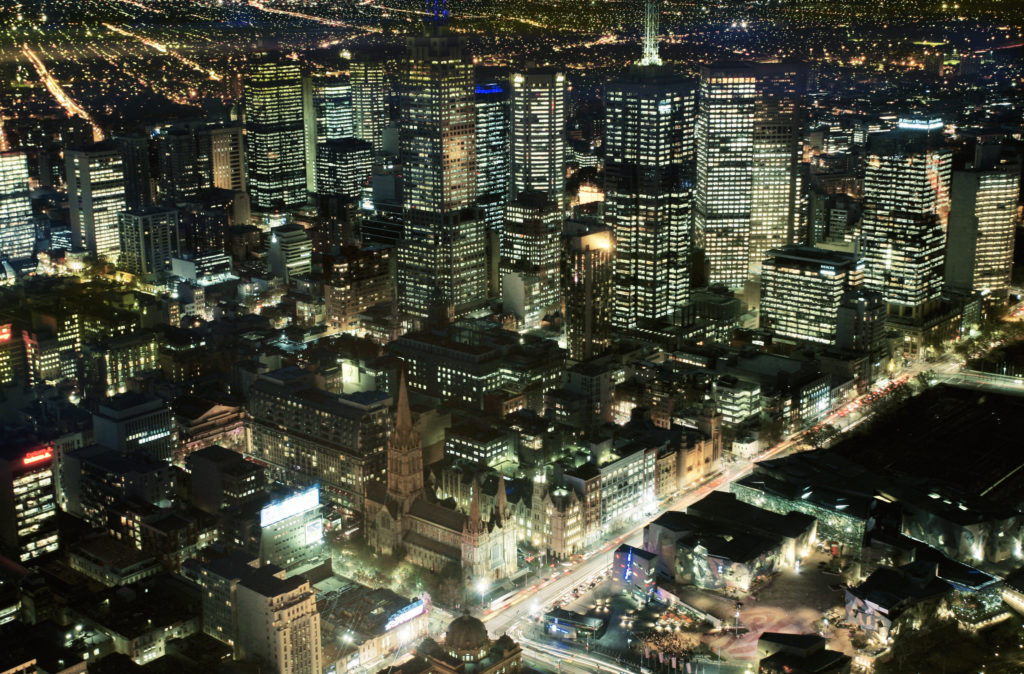 See amazing views of Melbourne at night from Eureka Skydeck