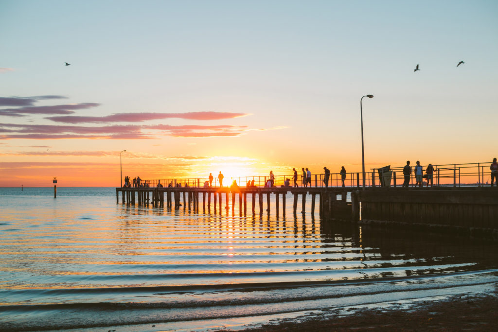One of the most beautiful - and free! - things to do in Melbourne at night is to watch the sunset at St Kilda Beach