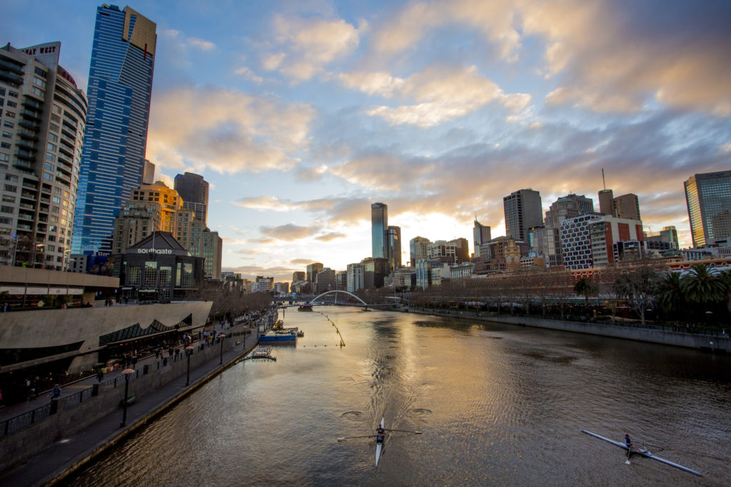 For a unique night out in Melbourne, take a kayak or dinner cruise along the Yarra River