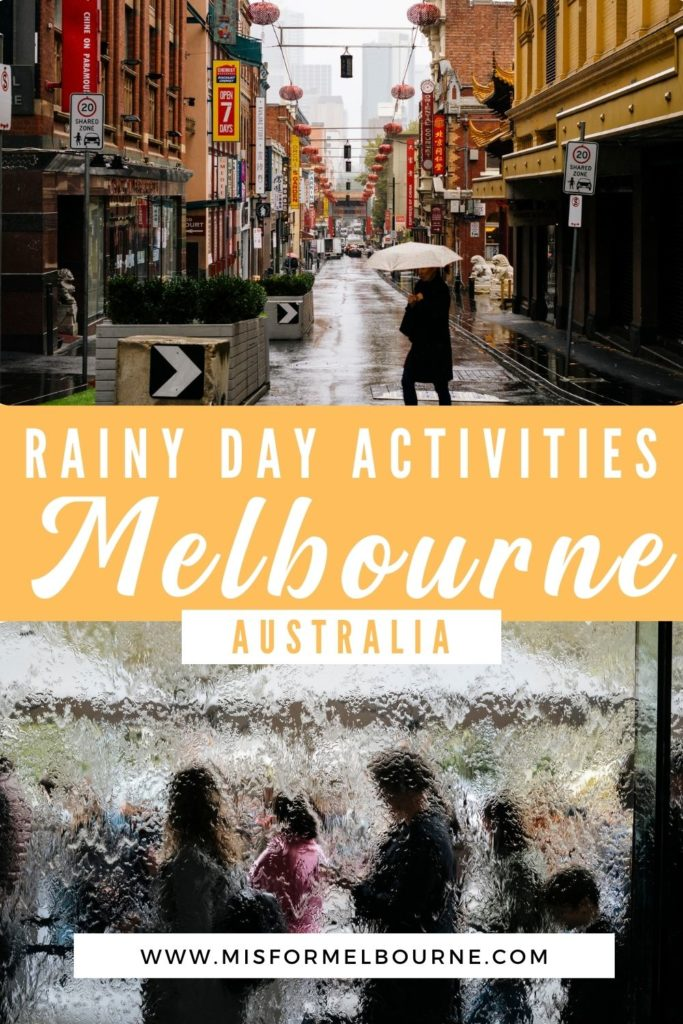 Is it raining in Melbourne? Don't worry! There are plenty of indoor activities in Melbourne. This guide to things to do in Melbourne when it rains will help keep you dry. | Melbourne | Australia | Melbourne Australia | Visit Melbourne | Melbourne Travel | Melbourne Advice | Indoor Activities in Melbourne | Melbourne Weather | Things To Do in Melbourne When it Rains | Things To Do in Melbourne | What To Do in Melbourne | Melbourne Travel Guide | Melbourne Tourist Attractions