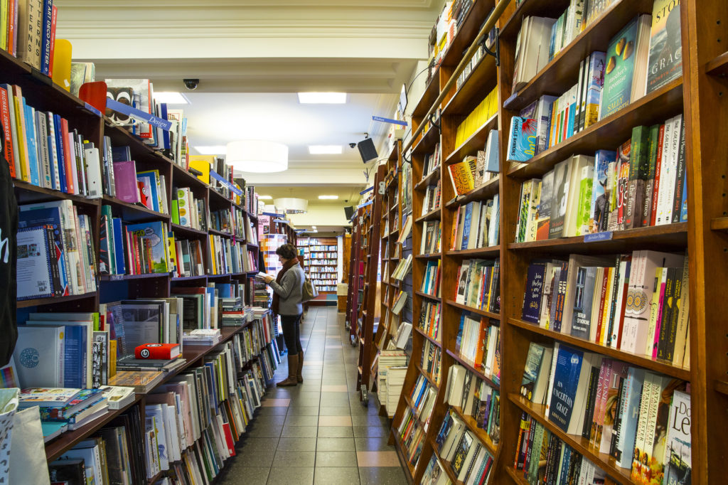 Rainy day weather in Melbourne calls for some book browsing - Readings in Carlton is one of the best bookshops in the city