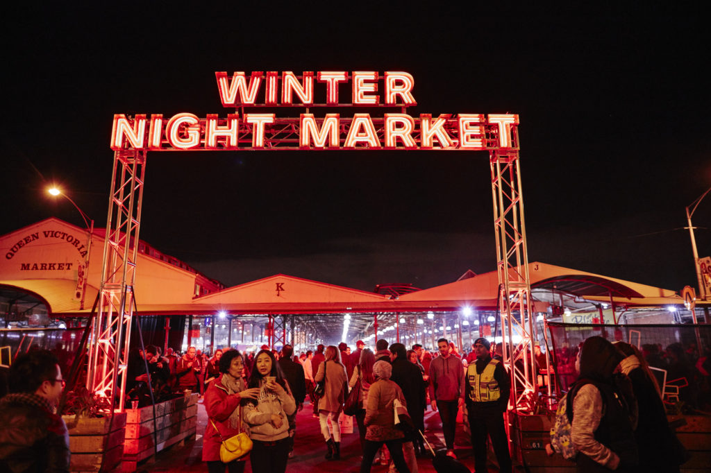 The Queen Victoria Night Market is a one of the best Melbourne winter activities - you can try food and listen to music.