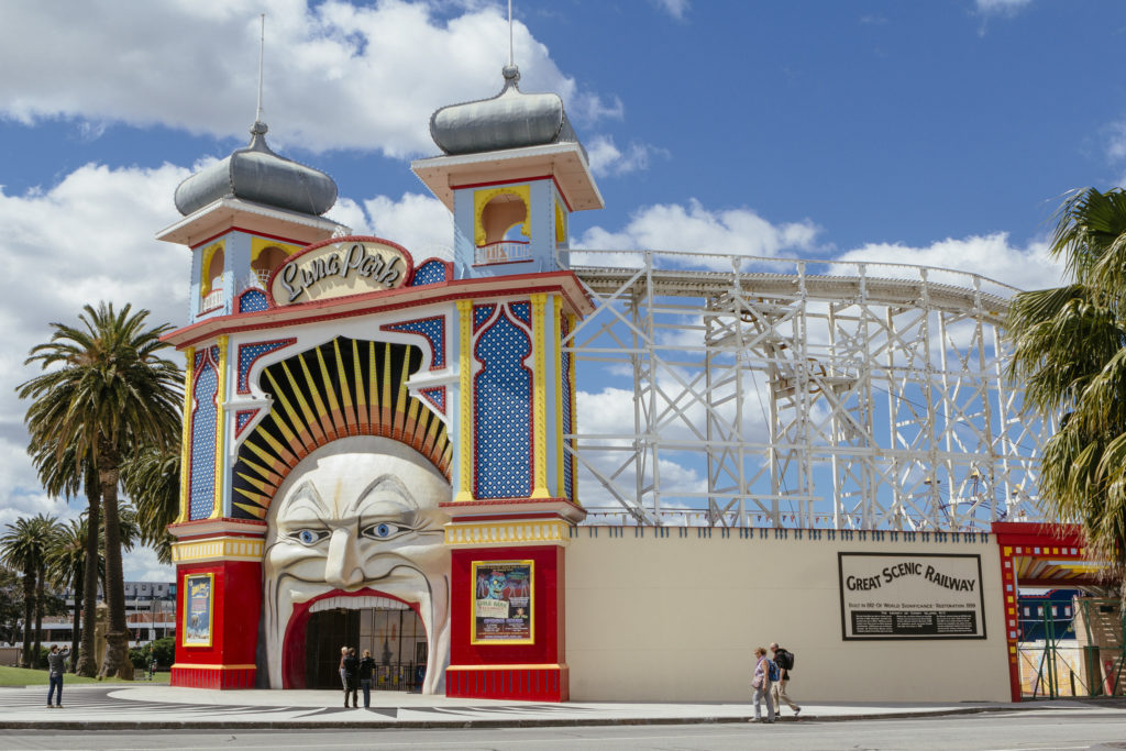Luna Park is one of the most fun things to do in Melbourne with kids - even adults will have fun!
