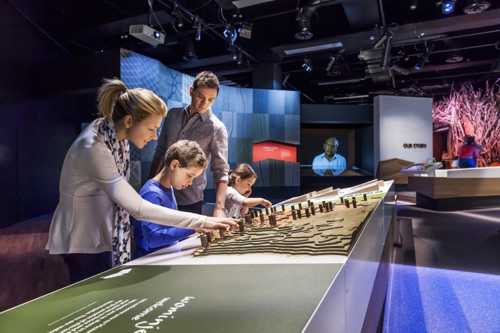 One of the best family activities in Melbourne is visiting the Melbourne Museum, which has exhibits for all ages