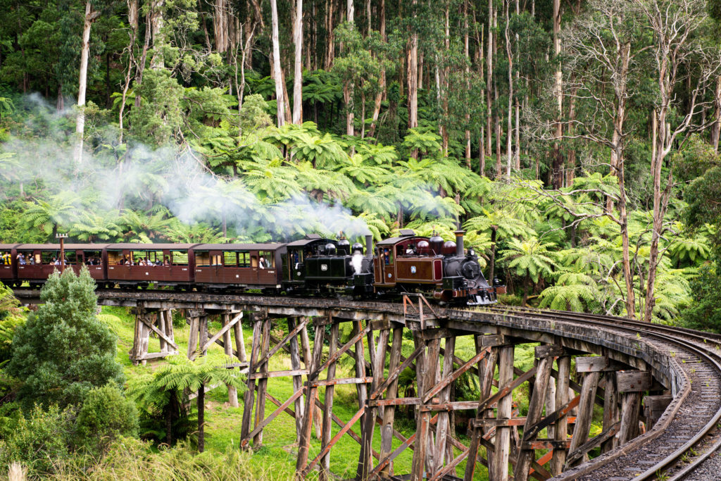 Riding Puffing Billy is one of the best things to do in Melbourne with kids