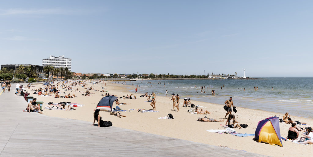 One of the fun things to do in Melbourne with family is spend a day at St Kilda Beach
