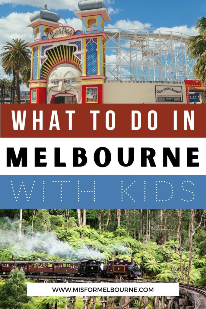 Wondering what to do with kids in Melbourne? There are so many things to keep little ones happy! From indoor activities to biking along the river, to learning in museums and riding a historic steam train, this list of the best things to do in Melbourne with kids will keep kids of all ages happy. | Melbourne | Australia | Melbourne Australia | Visit Melbourne | Melbourne Travel | Melbourne Advice | Things To Do in Melbourne with Kids | Things To Do in Melbourne | What To Do in Melbourne | Melbourne Travel Guide | Melbourne Tourist Attractions | Melbourne with Kids